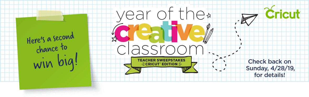 Teacher sweepstakes Cricut edition
