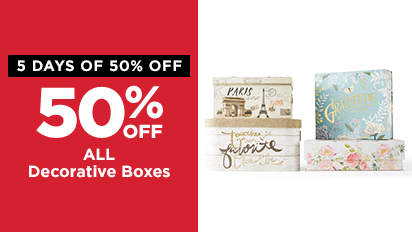 50% OFF Spring Decorative Boxes