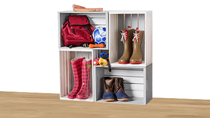 Featured Project: Crate Shoe Holder