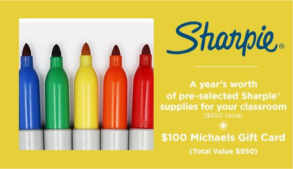 A years worth of pre-selected Sharpie supplies for your classroom