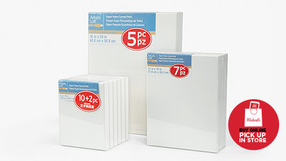 "12.99 Each ALL Super Value Canvas Packs, 8"" x 10"" - 16"" x 20"""