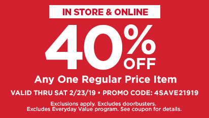 40% OFF Any One Regular Price Item
