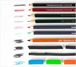 Pencils, Pastels, & Charcoal
