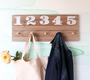 Numbered Peg Rack